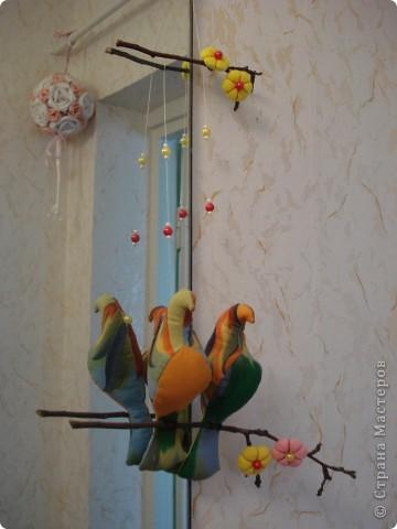 Искала в интернете текстильные игрушки, и увидела стаю птиц! Теперь у меня тоже живут эти прекрасные птицы! фото 6