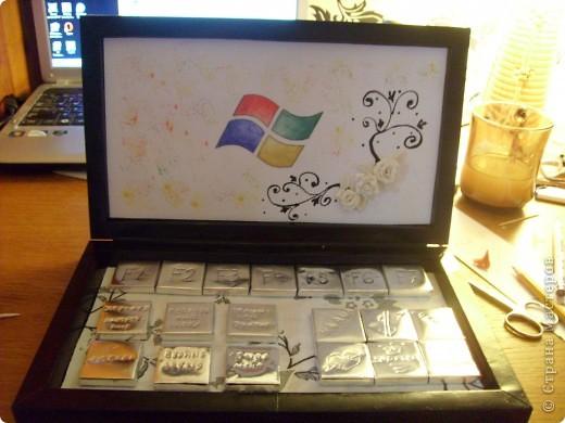 Мастер-класс Свит-дизайн Моделирование конструирование Ноутбук из конфет фото 21