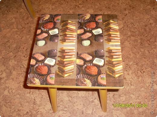 Вот такая шоколадная табуреточка у меня родилась) фото 2