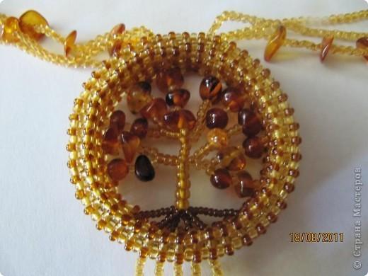 дерево счастья(бисер)колье фото 2