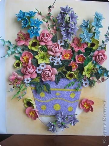 Здравствуйте жители страны. С праздником Вас. В конце лета и я собрала букет из летних цветов. фото 11