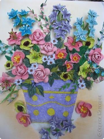 Здравствуйте жители страны. С праздником Вас. В конце лета и я собрала букет из летних цветов. фото 1