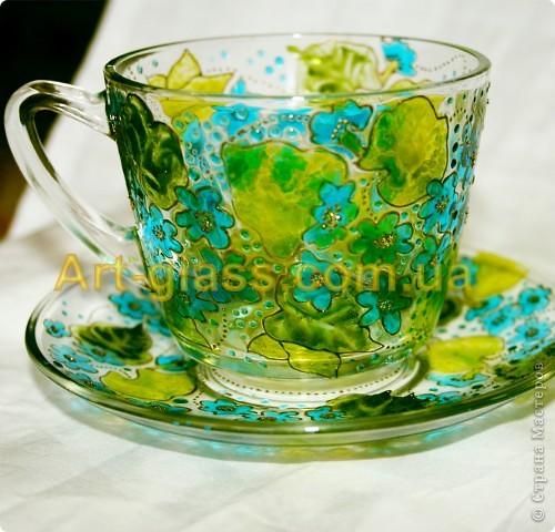 Незабудковая чашечка с блюдечком фото 1