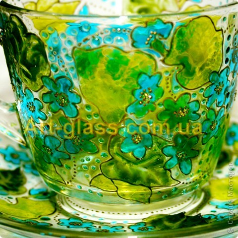 Незабудковая чашечка с блюдечком фото 2