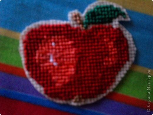 Хочу поделиться давней находкой, как оформить изнаночную сторону вышивки. Это яблоко вышито для игры по скетчу. фото 5