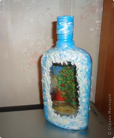 Тарелка-обратный декупаж,бутылка-Прямой и обратный декупаж фото 4
