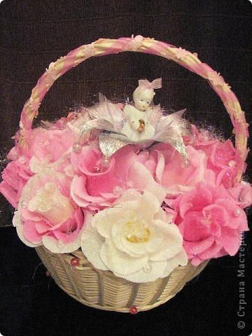 Корзина сладких цветов фото 1