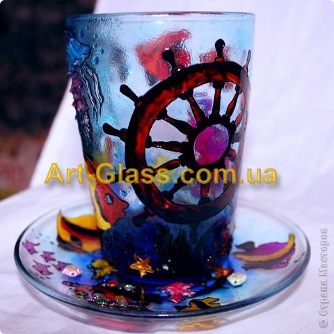 Вот еще одна моя чашечка, одна из любимых. Тут очень много использовано текстурных паст, которые создают разные обьемные стили.   фото 2