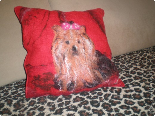 МК  по наволочке для подушки диванной с йорком. фото 1