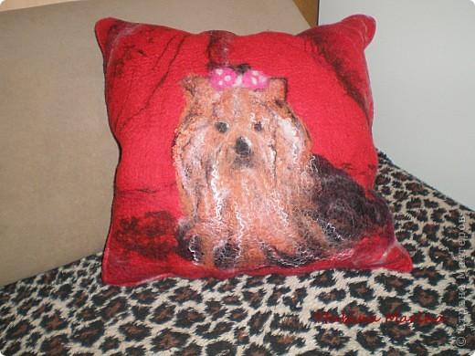 МК  по наволочке для подушки диванной с йорком. фото 10