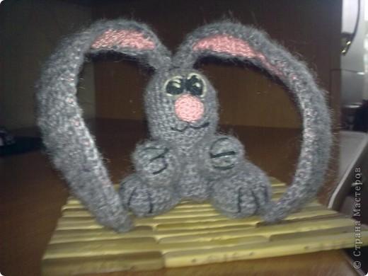 В просторах интернета нашла схемку зайчика, вот ссылка http://amigurumi.com.ua. Правда косоглазенький получился. фото 1