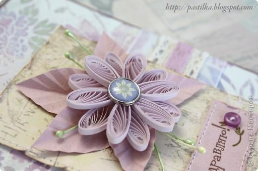 Фиолетовая открытка фото 2