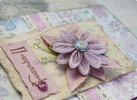 Фиолетовая открытка фото 3