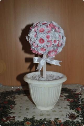 Вот такие свадебные деревца у меня получились. Они будут украшением свадебного стола и одновременно подарком для каждой семьи в память о свадьбе. фото 2