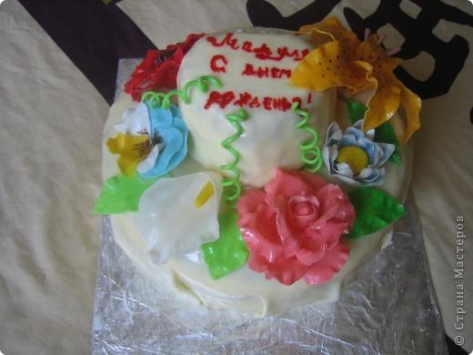 Торт Цветы фото 1