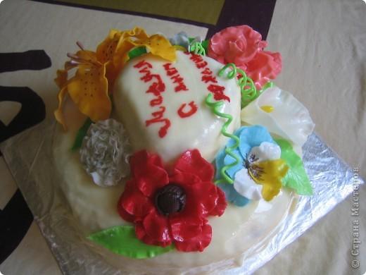 Торт Цветы фото 2