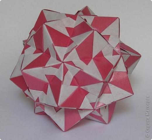 Всем привет! В последнее время не хватает времени на кусудамы. Занимаемся заготовками на зиму - помидоры, баклажаны, перец.  Вот эта парочка кусудам сложилась давно, но показываю сейчас.  Truncated Rhombic Triacontahedron by Daniel Kwan Схема: http://www.flickr.com/photos/8303956@N08/652339064/in/faves-64195347@N08/ фото 4