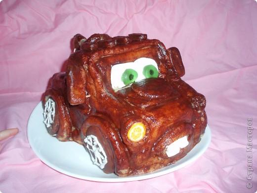 """Очередной  день  рождения сынишки - очередной  тортик ! На  этот  раз - другой  герой """"Тачек""""- Мэтр фото 1"""