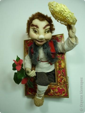 прямо из сказки,  текстильная кукла(из чулка)