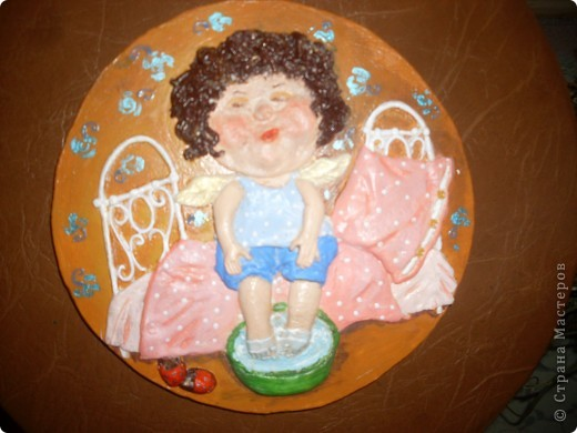 Породолжаю творить по  мотивам работ Евгении Гапчинской, не могу остановиться! Очень уж хороши её ангелочки!!! фото 3