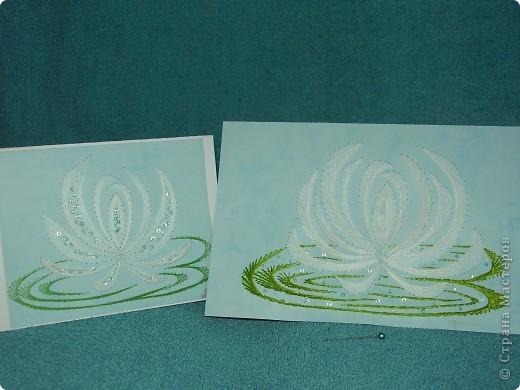 водяные лилии - tikitud kaardid... niidigraafika фото 3