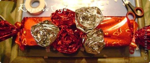 Купила подруге на день рождение подарок,так просто дарить не интересно,решила завернуть в красивую бумагу в виде конфеты,но всё равно пусто как то.Вот что у меня в итоге получилось. Начинаем украшательство фото 10