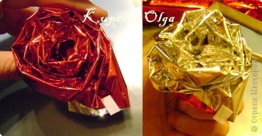 Купила подруге на день рождение подарок,так просто дарить не интересно,решила завернуть в красивую бумагу в виде конфеты,но всё равно пусто как то.Вот что у меня в итоге получилось. Начинаем украшательство фото 7