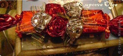 Купила подруге на день рождение подарок,так просто дарить не интересно,решила завернуть в красивую бумагу в виде конфеты,но всё равно пусто как то.Вот что у меня в итоге получилось. Начинаем украшательство фото 13