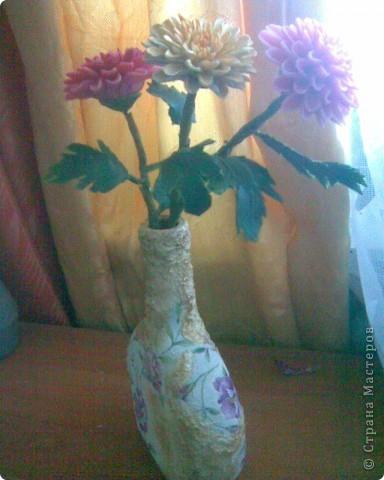 Хризантемы из холодного фарфора фото 1