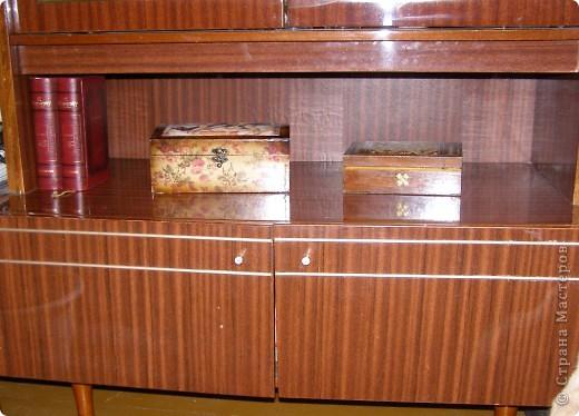 Вот такие у меня наплелись коробочки в сервант для разных мелких разностей. Две муж мне покрасил и покрыл лаком, третья пока ждет своей очереди... фото 2