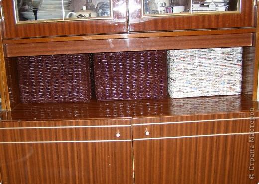Вот такие у меня наплелись коробочки в сервант для разных мелких разностей. Две муж мне покрасил и покрыл лаком, третья пока ждет своей очереди... фото 3