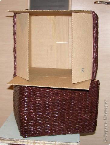 Вот такие у меня наплелись коробочки в сервант для разных мелких разностей. Две муж мне покрасил и покрыл лаком, третья пока ждет своей очереди... фото 4
