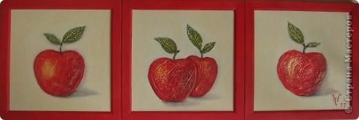 "Триптих ""Яблочки"" фото 2"