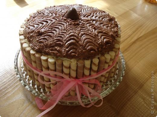 На выходных испекла тортик, идею украшения подсмотрела в инете, результат получился интересный. фото 2
