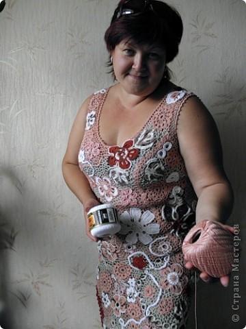 Ну вот, и до себя руки дошли. А то сапожник - без сапог.  Платье в любимой мною технике ирландского кружева.  фото 1