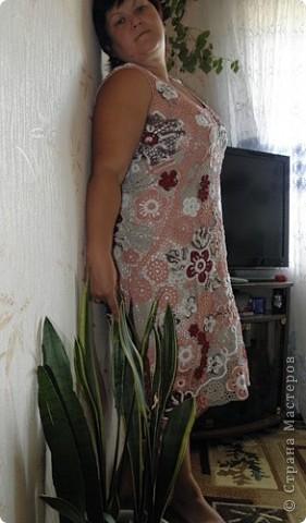 Ну вот, и до себя руки дошли. А то сапожник - без сапог.  Платье в любимой мною технике ирландского кружева.  фото 4