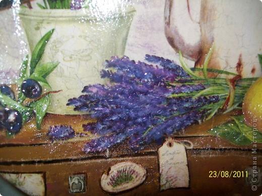 Прямой декупаж,акриловые краски, кракелюр на ПВА, 3Д гель. фото 3