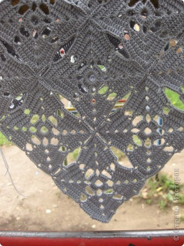 Гардероб Вязание крючком Вяжем в компании  Шарф-косынка Пряжа фото 4