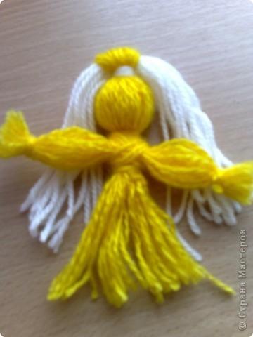 Чудесная куколка из ниток! фото 6