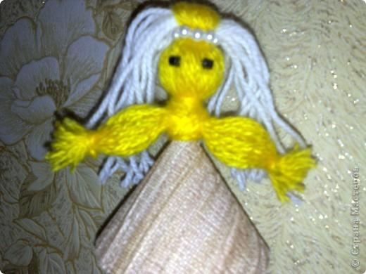Чудесная куколка из ниток! фото 3