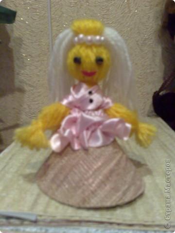 Чудесная куколка из ниток! фото 8