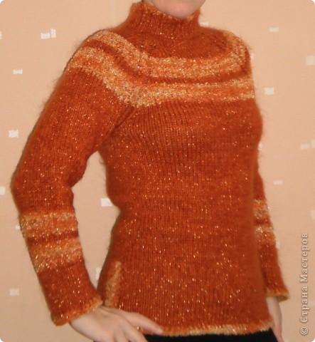 Очень теплый свитер (акрил + махер)