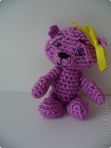 Вот такого медвежонка связала мне моя мама, описание брала здесь - http://www.liveinternet.ru/community/3411565/post112670180/ фото 2