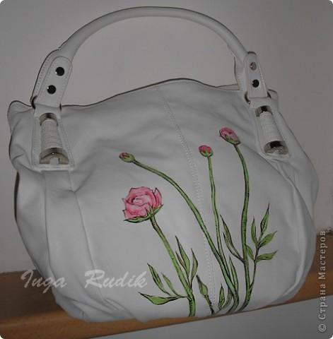 Расписала первую сумку, испытала на прочность - краски держатся отлично. Можно продолжать :) фото 1
