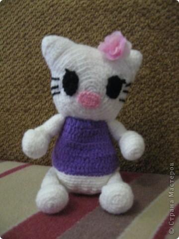Кошечка Китти,  связанна по фото.  фото 1