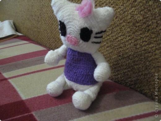 Кошечка Китти,  связанна по фото.  фото 2