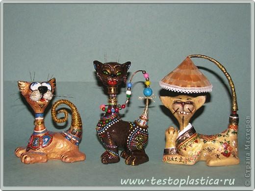 Кошки из соленого теста. фото 1