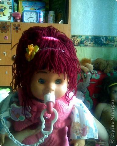 Волосы для куклы из пряжи мастер класс - 24