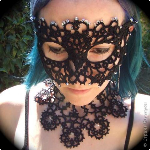 Кружевная маска фото 1
