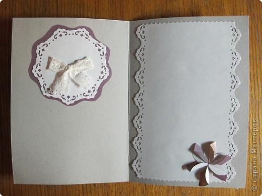 У меня очередная открытка)) Основа - упаковка от цветного картона - чего добру-то пропадать!)) В середине - желтый кармашек для тега фото 11
